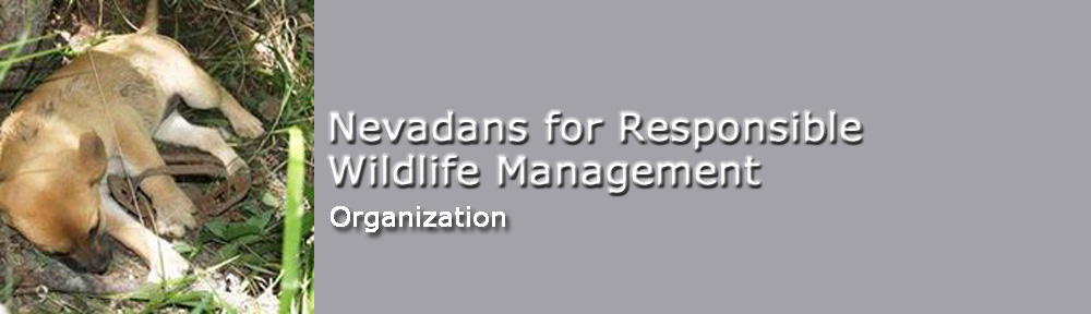Nevadans for Responsible Wildlife Management header